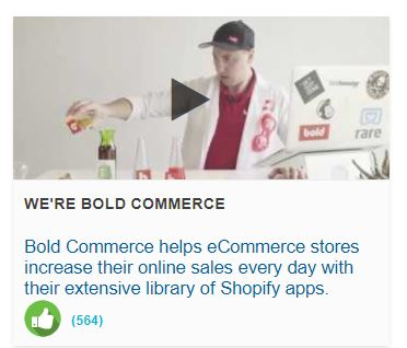 Bold Commerce: Shopify App & Development Experts, AND the 1st place finishers in this year's Online Selling Science Fair!