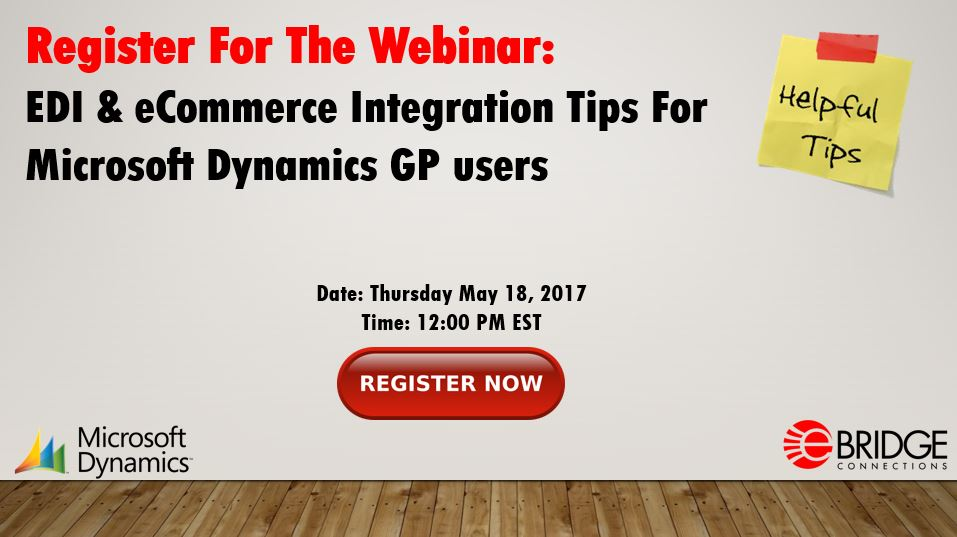 Upcoming Webinar: EDI & eCommerce Integration tips for Microsoft Dynamics GP users