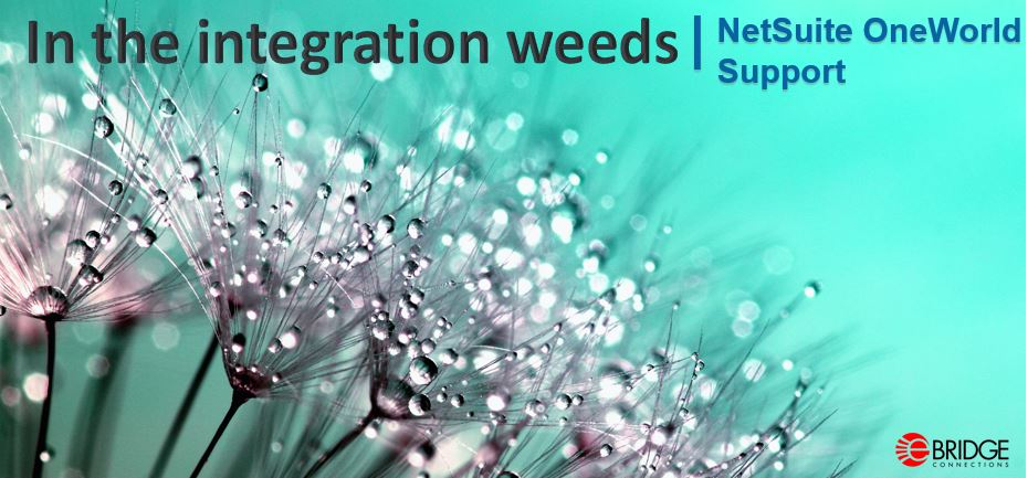 In The Integration Weeds | NetSuite OneWorld Support