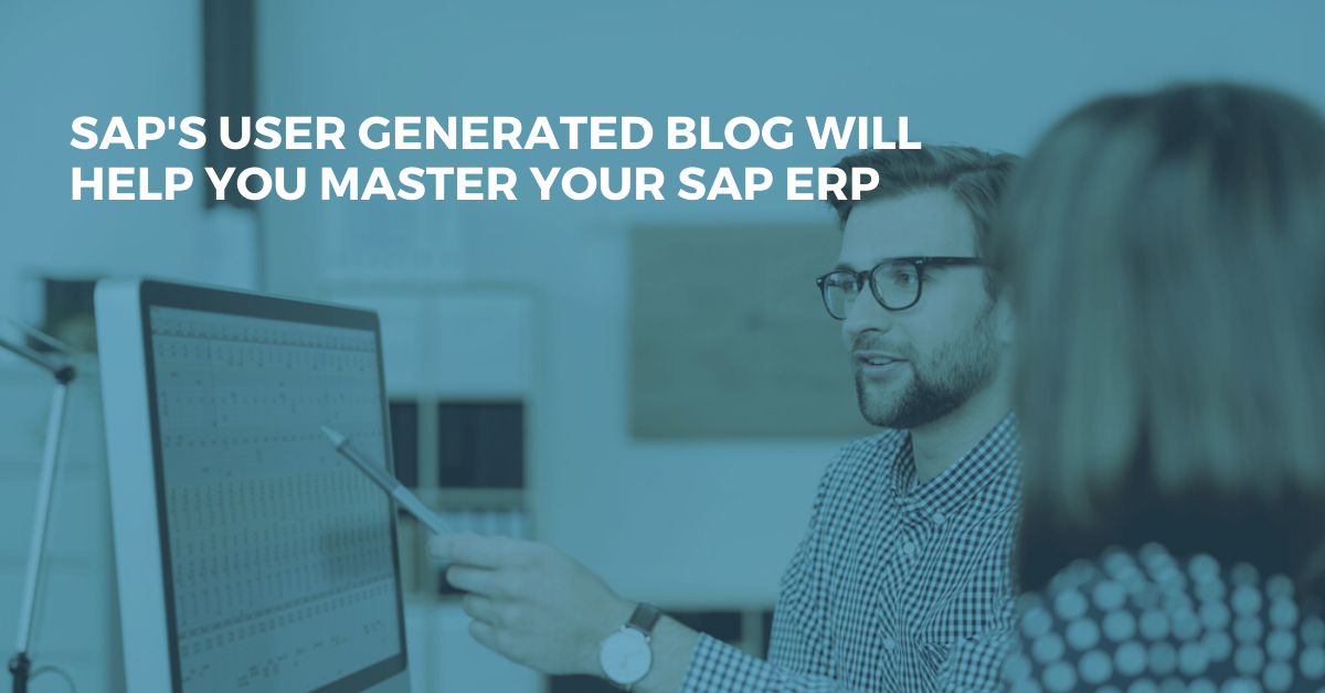Discover SAP's User Generated Blog