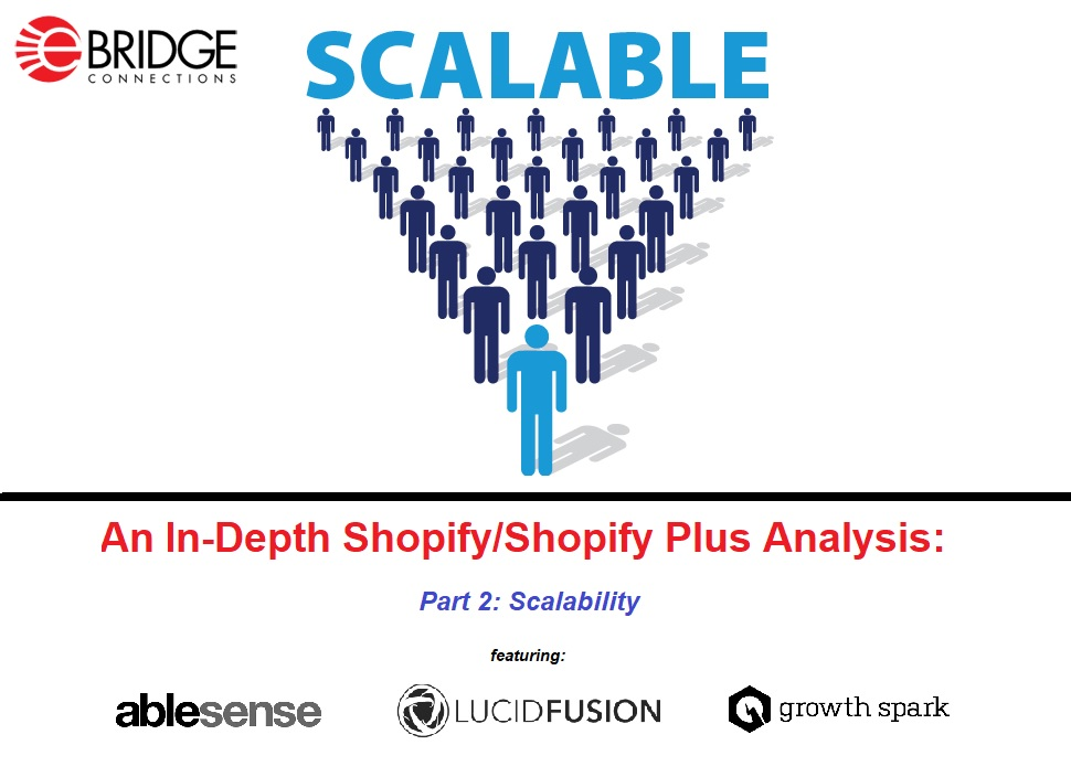 An in-depth analysis of Shopify/Shopify Plus through the eyes of AbleSense, Lucid Fusion, and Growth Spark. Part 2: Scalability